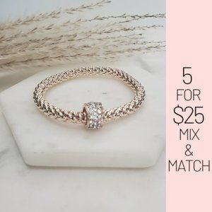 Jewelry - 5 for $25 Rose Gold Color Charm Bracelet